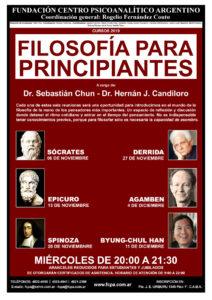 Cartel del curso Filosofía para principiantes
